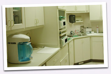 View of our sterilization area