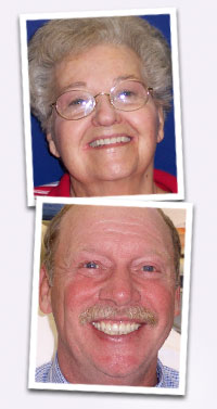 Portraits showing teeth Dr. Palmore has transformed